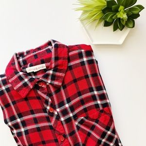 Evereve Peyton Jensen Plaid Button Down